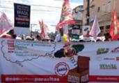 Servidores comparam Bolsonaro a Rui Costa em protesto | Bruno Luiz | Ag. A TARDE