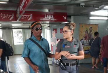 Deficientes visuais participam de aula de acessibilidade no metrô de Salvador | Divulgação