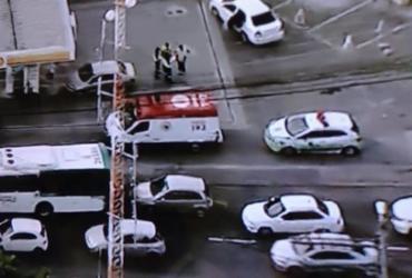 Acidente deixa trânsito lento na região do Cabula | Reprodução | Record TV