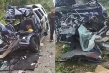 Quatro jovens morrem em acidente entre van e ônibus na BA-265 | Reprodução | Blog do Anderson