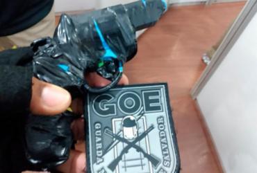 Simulacro de arma de fogo é apreendido durante o Carnaval | Divulgação | Secom