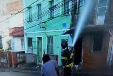 Incêndio atinge casarão antigo no Barbalho | Reprodução | TV Bahia