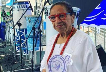 Licia Fabio foi homenageada pelo bloco Filhos de Gandhy |