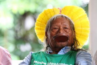 Em Salvador para o Carnaval, cacique Raoni defende causa indígenas | Carol Garcia | GOVBA