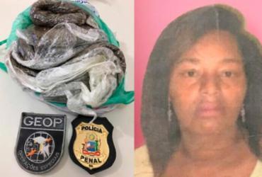 Mulher é presa ao tentar com 650 gramas de maconha em penitenciária de Teixeira de Freitas |
