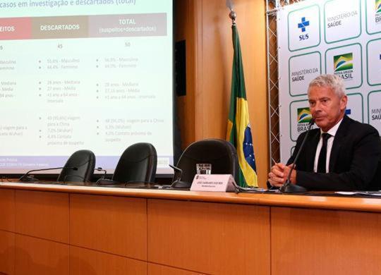 Aumenta para 5 o número de casos suspeitos de coronavírus no Brasil | Erasmo Salomão | Ascom MS