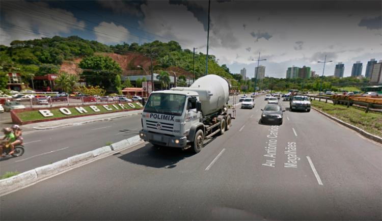 Via foi parcialmente interditada pela Transalvador | Foto: Reprodução | Google Maps - Foto: Reprodução | Google Maps