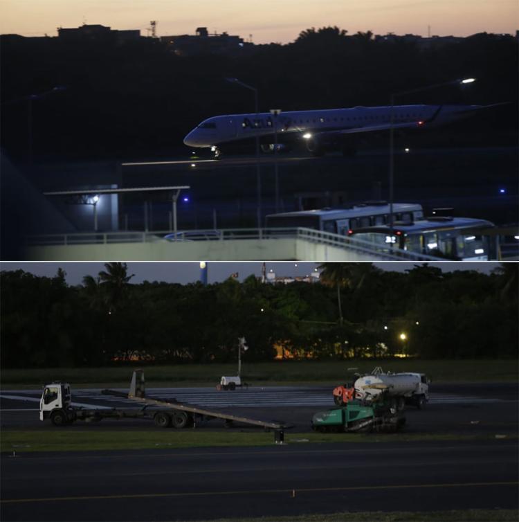 Segundo a Vinci Airport, o motivo do problema foi manutenção preventiva realizada na pista principal do equipamento | Foto: Adilton Venegeroles | Ag. A TARDE - Foto: Adilton Venegeroles | Ag. A TARDE