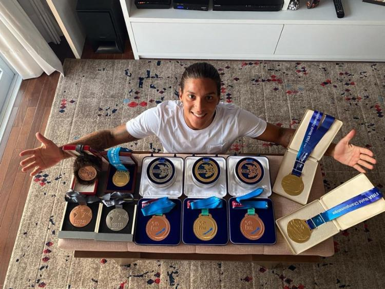Nadadora baiana coleciona títulos na modalidade | Divulgação - Foto: Divulgação