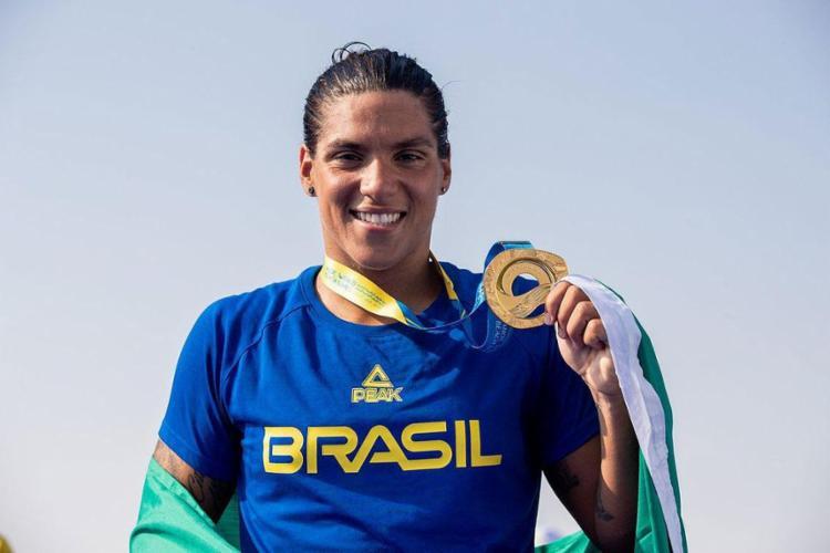 A nadadora baiana Ana Marcela, eleita seis vezes melhor nadadora aquática do mundo, espera ganhar a sua primeira medalha olímpica em Tóquio | Foto: Miriam Jeske | COB - Foto: Miriam Jeske | COB