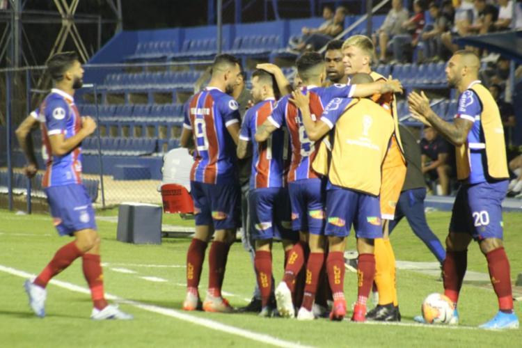 Atacante Élber teve mais uma boa atuação e marcou o primeiro gol do Esquadrão | Foto: Divulgação | EC Bahia - Foto: Divulgação | EC Bahia