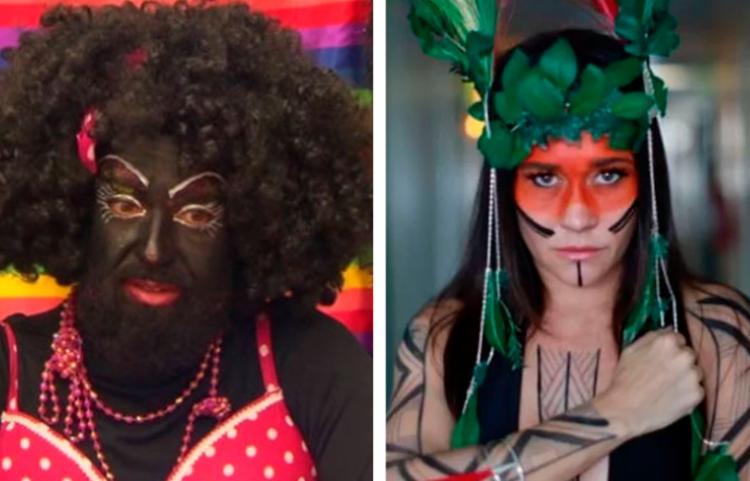 Fantasias de índio e 'nega maluca' reforçam estereótipos racistas associados a negros e indígenas   Foto: Reprodução - Foto: Reprodução