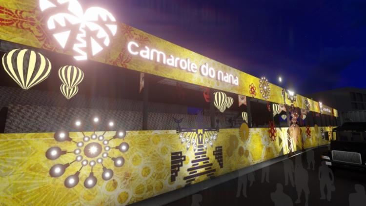 seremos parceiros do Camarote do Nana, um dos espaços mais badalados do circuito Barra-Ondina   Foto: Divulgação