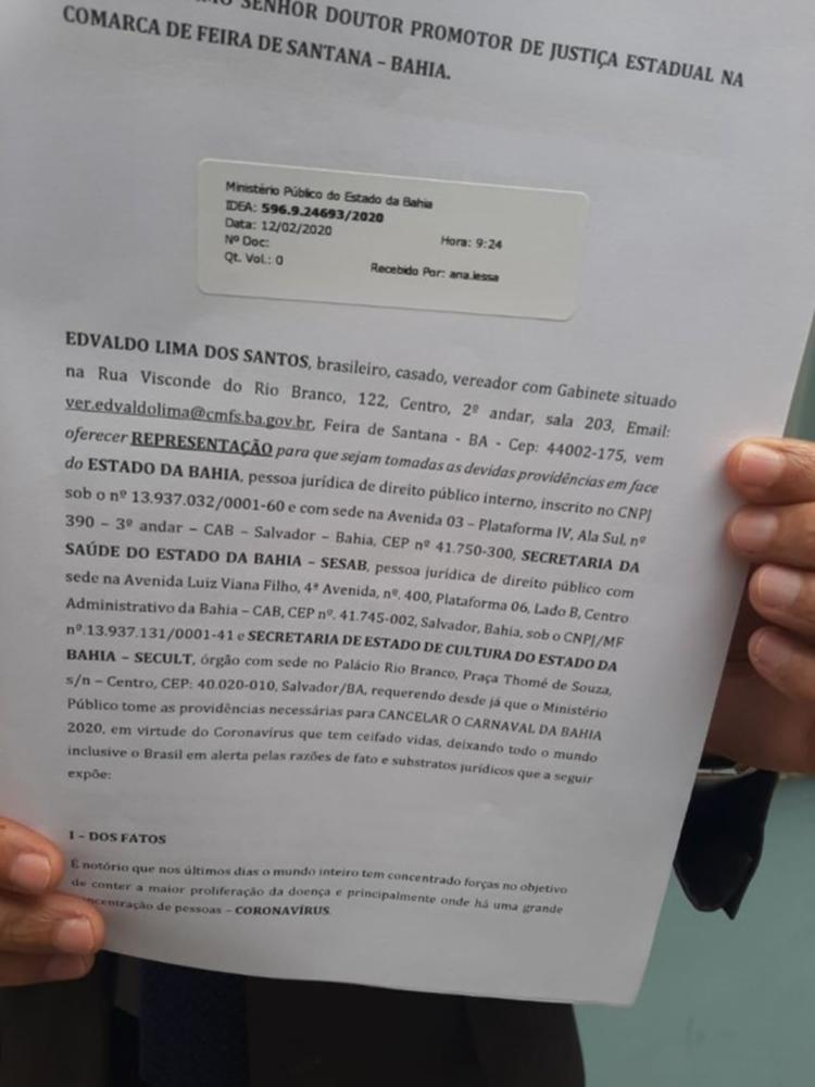 Ação foi protocolada na quarta-feira, 12 | Foto: Reprodução | Acorda Cidade