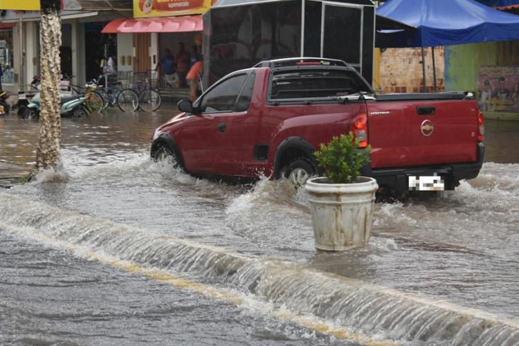 A precipitação começou logo após o meio-dia e durou cerca de quarenta minutos   Foto: Reprodução   Gazeta 5 - Foto: Reprodução   Gazeta 5