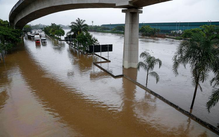 Em 11 dias, precipitações na cidade somaram 342,6 milímetros   Foto: Miguel Schincariol   AFP - Foto: Miguel Schincariol   AFP