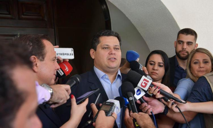 Alcolumbre se reuniu com o prefeito de São Paulo em Brasília   Foto: Marcos Brandão   Senado Federal - Foto: Marcos Brandão   Senado Federal