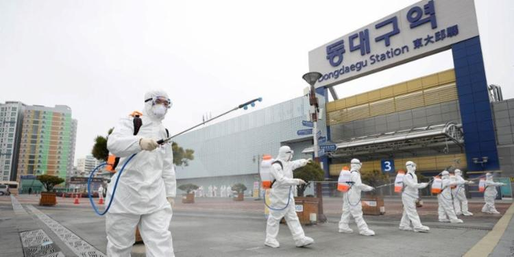 A Coreia do Sul é o segundo país mais afetado depois da China   Foto: Yonhap   AFP - Foto: Yonhap   AFP