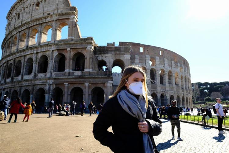 Desde o início da propagação da epidemia COVID-19 na Itália, 1.128 pessoas tiveram resultado positivo | Foto: Andreas Solaro | AFP - Foto: Andreas Solaro | AFP
