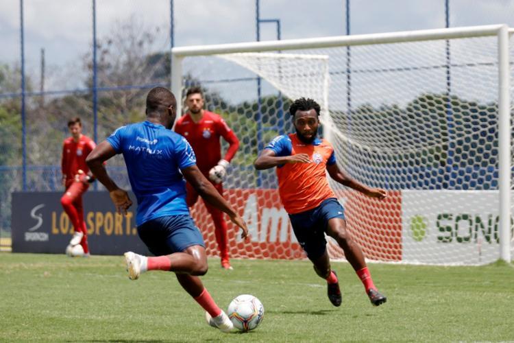 Os jogadores ainda participaram de um descontraído treino recreativo | Foto: Felipe Oliveira | EC Bahia - Foto: Felipe Oliveira | EC Bahia