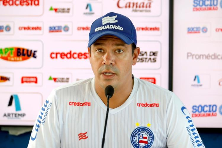 Treinado espera vencer o clássico para garantir a primeira posição do Baianão | Foto: Felipe Oliveira | EC Bahia - Foto: Felipe Oliveira | EC Bahia