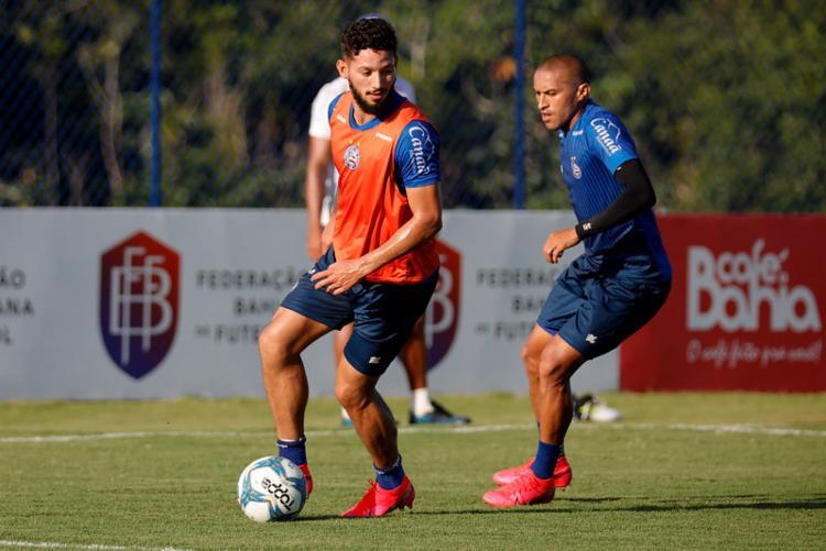 Quem atuou mais de 45 minutos contra o Nacional (PAR) participou de um treino técnico na Cidade Tricolor | Foto:Felipe Oliveira | EC Bahia