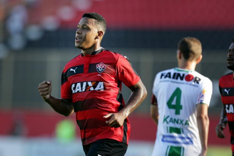 Com a camisa do Vitória, David atuou por 109 partidas e marcou 16 gols | Foto: Raul Spinassé | Ag. A TARDE - Foto: Raul Spinassé | Ag. A TARDE