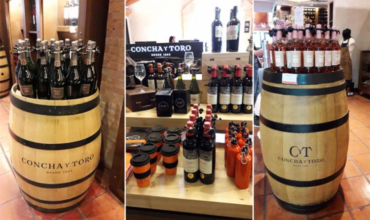 Loja da Concha y Toro tem não só vinhos, como souvenirs para os visitantes | Foto: Thaís Seixas | Ag. A TARDE
