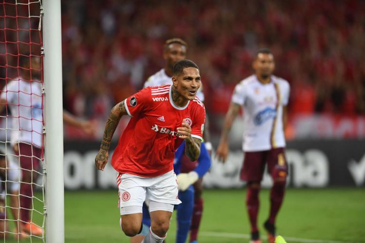 A classificação veio com gol do peruano Paolo Guerrero | Foto: Ricardo Duarte | Internacional - Foto: Ricardo Duarte | Internacional
