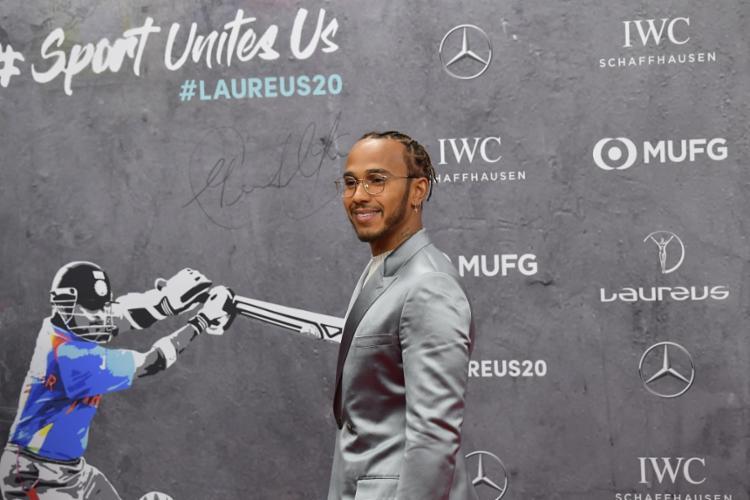 Hamilton foi o único dos vencedores do principal prêmio a comparecer no evento | Foto: Tobias Schwarz | AFP - Foto: Tobias Schwarz | AFP