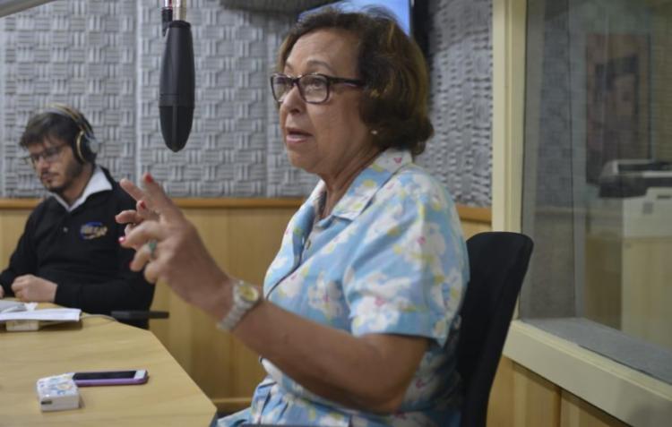 Lídice foi questionada por uma jornalista da Folha de S. Paulo | Foto: Shirley Stolze | Ag. A TARDE - Foto: Shirley Stolze