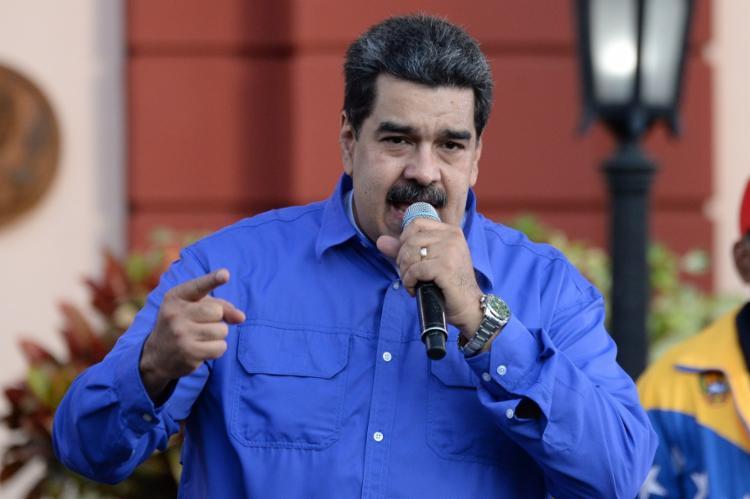 Maduro afirmou que Bolsonaro está por trás das ameaças terroristas contra a Venezuela | Foto: Federico Parra | AFP - Foto: Federico Parra | AFP