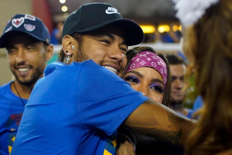 Em 2018, assim como em 2019, Neymar passou o carnaval no Brasil Foto: Mauro Pimentel   AFP - Foto: Mauro Pimentel   AFP
