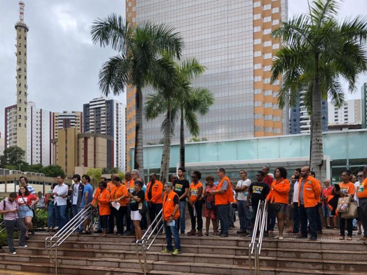 Manifestantes se reuniram em frente ao prédio da estatal | Foto: CSP Conlutas | Divulgação - Foto: CSP Conlutas | Divulgação