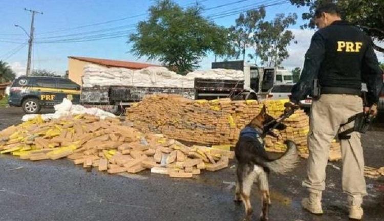 Em outubro de 2019, a Polícia Rodoviária Federal fez a maior apreensão histórica no estado, quando mais de 1 tonelada de cocaína foi encontrada escondida em um caminhão baú - Foto: Divulgação   PRF