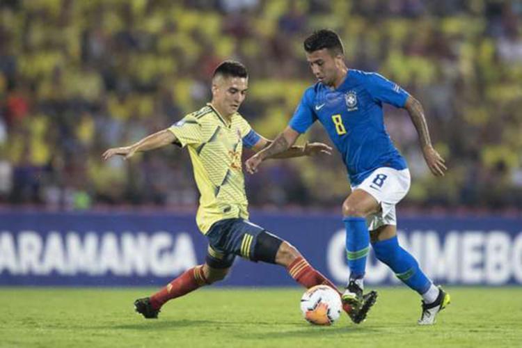 Com este resultado a seleção brasileira fica empatada na segunda posição da fase final ao lado da equipe colombiana com um ponto | Foto: Lucas Figueiredo | CBF - Foto: Lucas Figueiredo | CBF