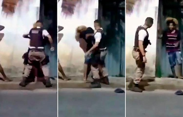 Jovem negro apanhou de um policial militar por causa do cabelo black power | Foto: Reprodução - Foto: Reprodução