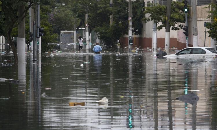 Cidade registrou chuva com maior volume desde 1995   Foto: Miguel Schincariol   AFP - Foto: Miguel Schincariol   AFP