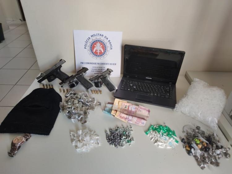 Armas e drogas foram apreendidas na ação | Divulgação | SSP - Foto: Divulgação | SSP