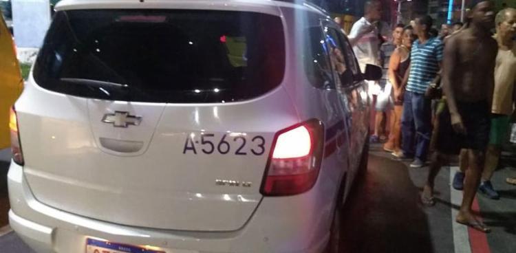 O crime aconteceu por volta das 19h, próximo à ladeira do Pau Miúdo, sentido Rótula do Abacaxi | Foto: Divulgação | Associação Geral dos Taxistas - Foto: Divulgação | Associação Geral dos Taxistas
