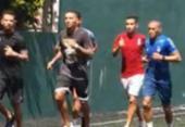 Com treinos paralisados, jogadores do Bahia se exercitam em condomínio | Foto: Reprodução