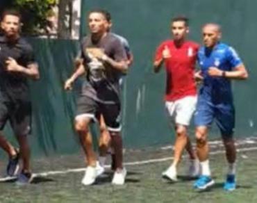 Nino Paraíba, Juninho, Flávio, Gregore e outros atletas foram filmados enquanto faziam atividades   Foto: Reprodução - Foto: Reprodução