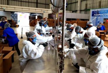 Unidades de Saúde da Bahia recebem álcool 70% envasado no Cimatec Park
