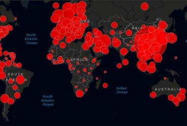Confira mapa em tempo real com casos do vírus no mundo | Reprodução | Jonhs Hopkins University
