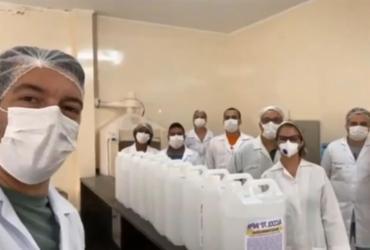 Teixeira de Freitas recebe doação de álcool gel