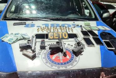 Grupo é flagrado com armas e munições em região comercial de Salvador | Divulgação | SSP