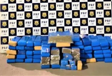 Trio é flagrado transportando 100 quilos de maconha na Bahia | Divulgação | PRF