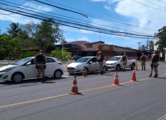 Ato a favor da reabertura do comércio é interrompido pela polícia | Divulgação | SSP-BA