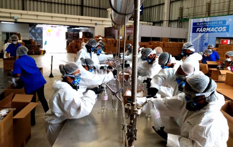 O lote do produto foi doado por usinas sucroalcooleiras que operam no Estado. - Foto: Divulgação_FIEB