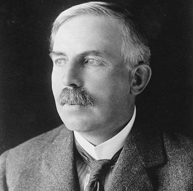 Ernest Rutherford efetuou os primeiros experimentos de divisão do átomo | Foto: Reprodução - Foto: Reprodução